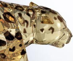 Jaguar, Crystal Golden Shine - Figurines - Swarovski Boutique Online