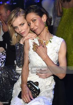 Eva Herzigova and Marpessa Hennink attends amfAR's 22nd Cinema Against AIDS Gala, Presented By Bold Films And Harry Winston at Hotel du Cap-Eden-Roc on May 21, 2015 in Cap d'Antibes, France.