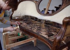 The Reupholstery of Beth's Antique Settee   ModHomeEc