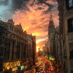 Madrid's sunsets, Madrid's skies Photo by albertmedran • Instagram