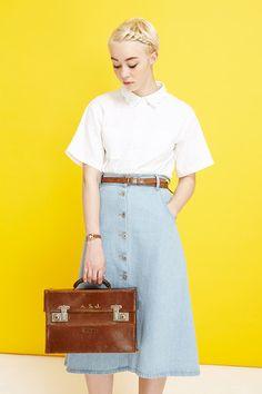Scallop Collar Shirt - THE WHITEPEPPER