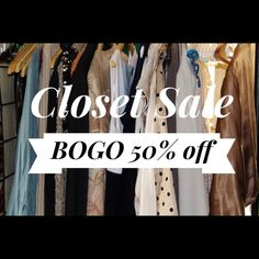 Buy one Get one 50% off! Or best offer! Buy one get one item of equal or lesser value at 50% off. Everything in my closet. Come take a look! I want to sell! :) all Dresses