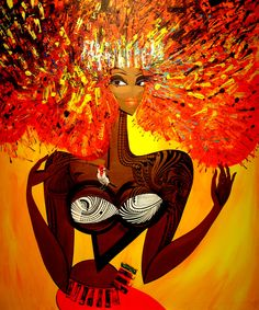 Painting of Hawaiian Goddes Pele