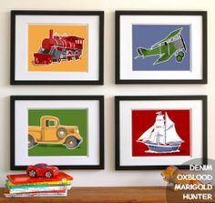 J's room? transportation wall art childrens wall art airplane by PaperLlamas