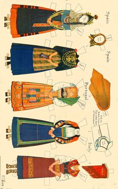 Peasant Costumes of Europe Paper Dolls by Rachel Taft Dixon (3 of 8)