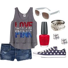 4th of Juy, created by madsswag on Polyvore