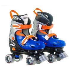 Chicago Boys Adjustable Quad Stakes 215 Small Gray Blue Orange for sale online Speed Roller Skates, Black Roller Skates, Best Roller Skates, Outdoor Roller Skates, Kids Roller Skates, Roller Derby Girls, Kids Skates, Quad Skates, Speed Skates