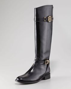 9afd1765fe4 Jini Flat Leather Over-the-Knee Boot by Robert Clergerie at Neiman Marcus.