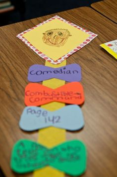 Cute dictionary skills activity - give students word, they have to write guide words, page found on, and definition in their own words, then draw a picture on the kite of their word!