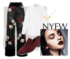 """""""nyfw❤"""" by ilyaz ❤ liked on Polyvore featuring Ganni, Marc Fisher LTD and MANGO MAN"""
