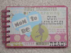 4x6 Mini Pregnancy Scrapbook by SimplyMemories on Etsy