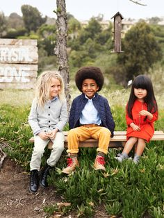 Fact: This is basically what my family is going to look like one day...a son from Haiti, a daughter from China and my own nerdy white son with crazy hair, all dressed wonderfully. Love it! <3
