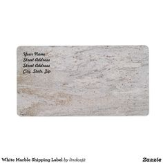 White Marble Shipping Label