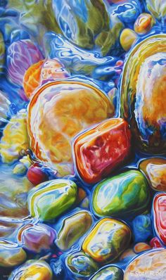 20 Mind-Blowing Hyper Realistic Pebbles and Rocks Paintings by Ester Roi. Read full article: http://webneel.com/20-mind-blowing-hyper-realistic-pebbles-and-rocks-paintings-ester-roi | Follow us www.pinterest.com/webneel