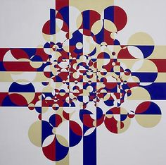 Gabriel Orozco:. In this piece, the artist used a type of nonlinear space, in which he used repeated shapes, with some smaller than others.  The smaller ones appear farther back, creating the illusion of space.