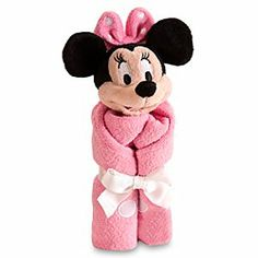 Minnie Mouse plush and blanket