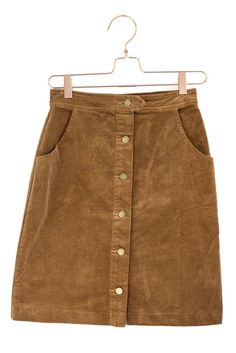 Button Down Corduroy Skirt | #mooreaseal