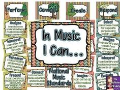National Music Standards - Camping Theme This whole theme is so cute!  I love the colors and the clipart used.  Camping in music class?  You bet!