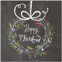 Our next range of lovely Christmas cards come from Whistlefish , an art company based in Cornwall which creates greeting cards, gift . Blackboard Art, Chalkboard Drawings, Chalkboard Lettering, Chalkboard Designs, Christmas Signs, Christmas 2016, Christmas Art, Christmas Wreaths, Christmas Decorations
