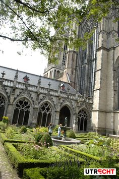 UTRECHT, the Netherlands: The Pandhof Garden of the Dom Church dates from 1390-1440 and was renovated in the late 19th century. Utrecht is the capital and most populous city in the Dutch province of Utrecht. It is located in the eastern corner of the Randstad conurbation (edge or border city), and is the 4th largest city in the Netherlands with a population of 330,772 in 2014.