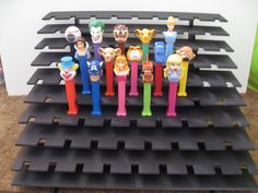 PEZ Grooved Display Bleacher Shelf  Black  Holds by PezHeadForever, $24.98