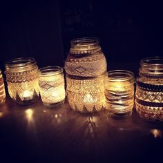 my take on the DIY mason jar candle holders. blogged.