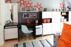 Vous pouvez créer des murs de rangement assez intéressants en mélangeant les différentes unités IKEA