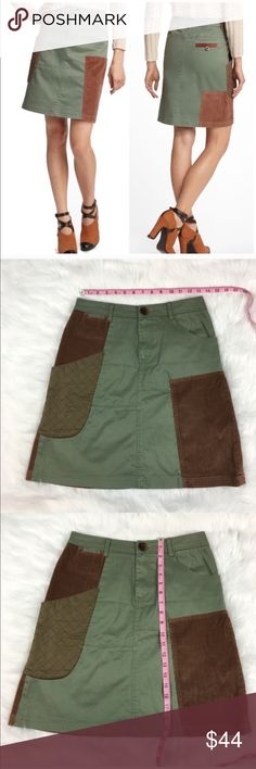 Anthropologie Meadow Rue Patchwork Cargo Skirt Anthropologie Meadow Rue Patchwork Cargo Skirt in Green. Size 2. Measurements in listing photos. Pre-owned condition with no major flaws.   ❌I do not Trade 🙅🏻 Or model💲 Posh Transactions ONLY Anthropologie Skirts Midi