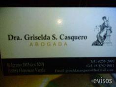 ESTUDIO JURIDICO EN FLORENCIO VARELA. DRA GRISELDA CASQUERO ABOGADA EN DERECHO LABORAL, DESPIDOS, TRABAJO EN NEGRO, ACCIDENTES LABORALES, FAMILIA, DIVORCIOS, ... http://florencio-varela.evisos.com.ar/estudio-juridico-en-florencio-varela-dra-griselda-casquero-id-974402
