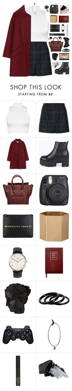 """""""GEMMA / 21.19"""" by shaniaayr ❤ liked on Polyvore featuring WearAll, Topshop, Zara, Boohoo, CÉLINE, Fuji, Givenchy, ferm LIVING, Daniel Wellington and Sloane Stationery"""