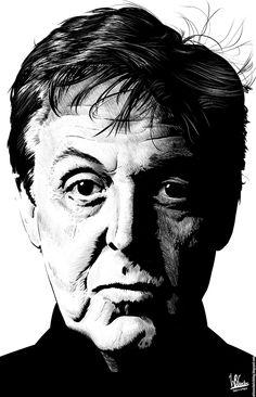 Ink drawing of Paul McCartney, using Krita 2.4 by Wilson Santos .. #Celebrity #paulmccartney #beatles