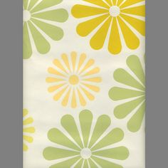 daisy screen printed retro-modern floral wallpaper: RLL15A