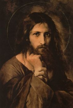 "Christ (475×699) Ivan Nikolaevich Kramskoi Ива́н Никола́евич Крамско́й is the artist Some say that EL GRECO painted it"""