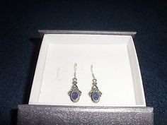 Artisan Crafted Rough-Cut Tanzanite Earrings In Sterling Silver 925  2.39cts.