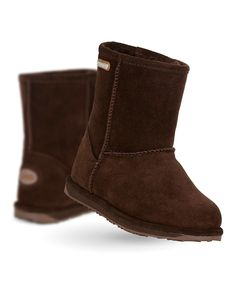 Another great find on #zulily! Chocolate Brumby Lo Suede Boot - Kids by EMU Australia #zulilyfinds