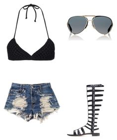 """""""🤗"""" by melodyleighmitchell on Polyvore featuring Mikoh, Levi's, Stuart Weitzman and Givenchy"""