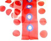Vintage 60s Patriotic Red White and Blue Nylon Chiffon Scarf