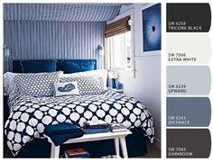 beachy blues room inspiration color palette