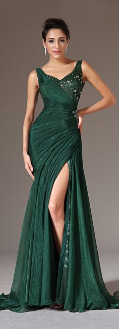 eDressit 00145704 Pleated Silk Chiffon Evening Gown