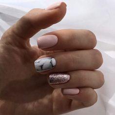 beautiful acrylic short square nails design for french manicure nails 17 ~ . beautiful acrylic short square na. Stylish Nails, Trendy Nails, Cute Nails, My Nails, Hair And Nails, Spring Nail Art, Spring Nails, Jolie Nail Art, Nail Art Noel