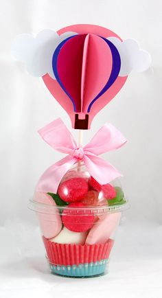 Vaso de Golosinas Cupcake Pink
