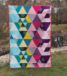 Beautiful quilt made from Cloud 9's new collection Biology! 100% organic cotton!!