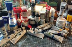 #awesomeness is when a friend who believes in your talent and empathizes with your poverty makes a donation of really good paint so you can #keepworking. Also let's be honest I pretty much wanna run this paint all over myself. #radfordmakesart #thrivingartist #upandcomingartist #torontoartists #loot #artdork