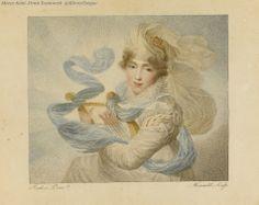 Hortense Beauharnais. Album de musique par Isabey.