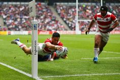 Japan on course for second victory as they lead Samoa 20-0 at break