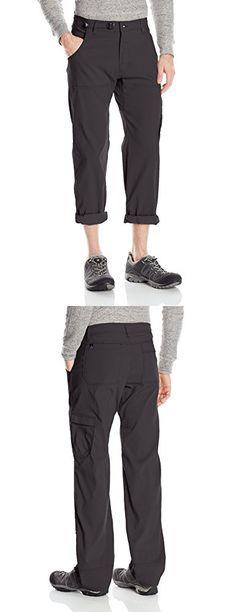 "PrAna Men's Stretch Zion 34"" Inseam Pants, Charcoal, Size 34"