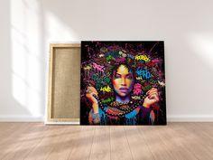 African-American Woman art, Melanin Art, Beauty Woman, African Art,  Black Lives Matter, Home Wall Art, Housewarming Gift, Black Woman Art African American Artwork, African American Women, African Art, Black Women Art, Minimalist Art, Map Art, Home Wall Art, Beautiful Paintings, Female Art
