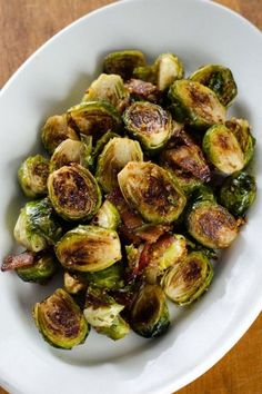 Bacon Roasted Brussels Sprouts with Honey Mustard - an easy paleo recipe. | cookeatpaleo.com