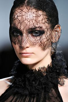 black lace veil by Maison Michel for Jason Wu