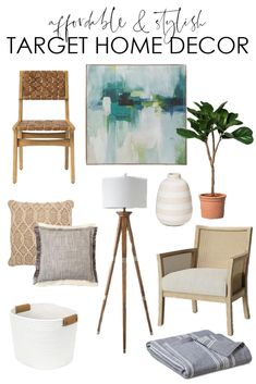 A collection of 25 affordable and stylish home decor from Target. So many great items like chairs rugs throw pillows blankets fig trees and more! Trendy Home Decor, Affordable Home Decor, Cheap Home Decor, Diy Home Decor, Room Decor, Wall Decor, Wall Art, Country Decor, Farmhouse Decor